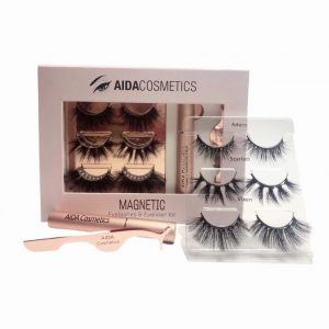 Vegan Magnetic Lashes & Eyeliner Kit | Reusable Lashes | Aida Cosmetics